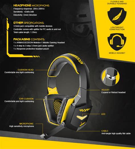 Armaggeddon Nuke 7 Yellow armaggeddon molatov 1 durable mobile stereo gaming heatset yellow lazada ph