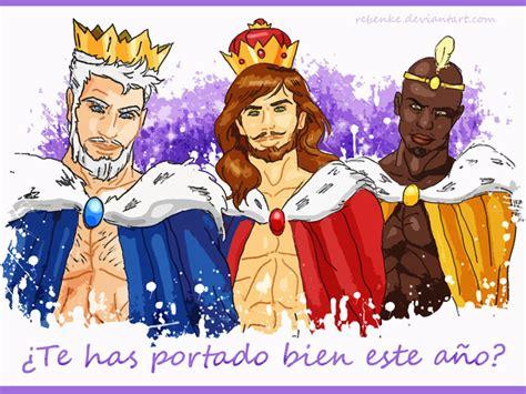imagenes de los tres reyes magos guapos los reyes magos de oriente by rebenke on deviantart