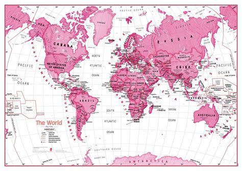 map for the world children s map of the world pink