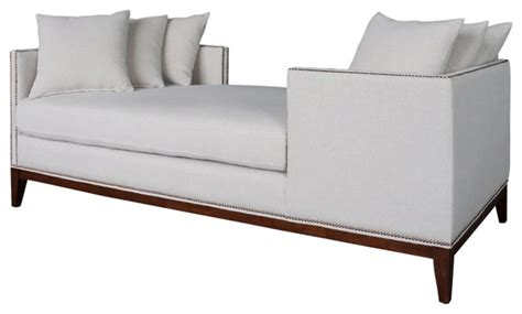 double chaise indoor tatiana double chaise contemporary indoor chaise