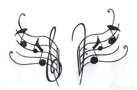musical tattoo design differentstrokesfromdifferentfolks notes designs