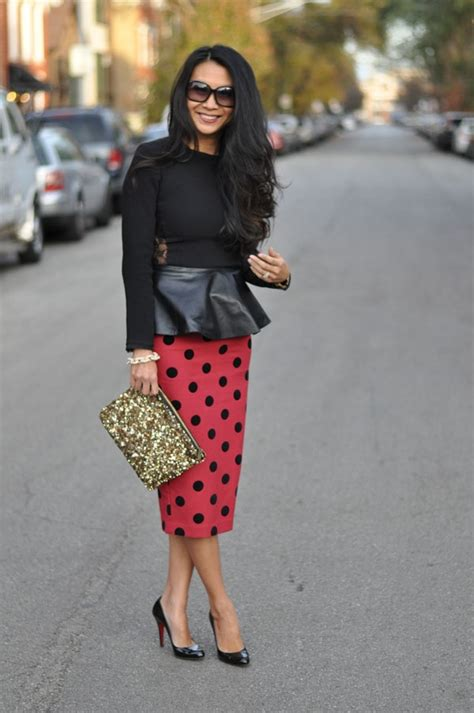 Rodeo Peplum polka dots and peplum fashion clothing skirts wines and polka dots