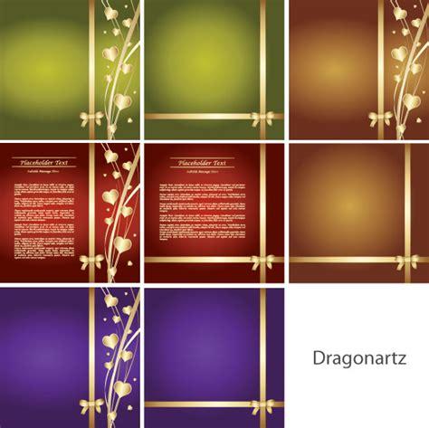 invitation card design vector free download romantic invitation card design vector download free