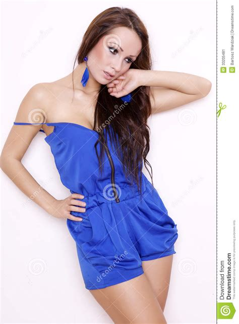 who is the brunette in the blue dress in the viagra add sexy brunette posing in blue dress stock image image