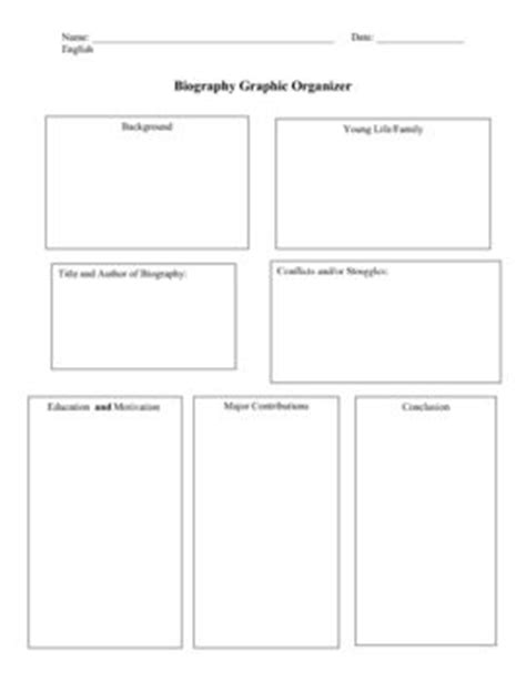 biography book report graphic organizer biography and organizers on pinterest