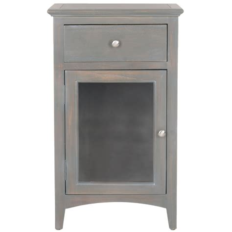 pictures of yellow end tables with gray shop safavieh ziva gray elm end table at lowes