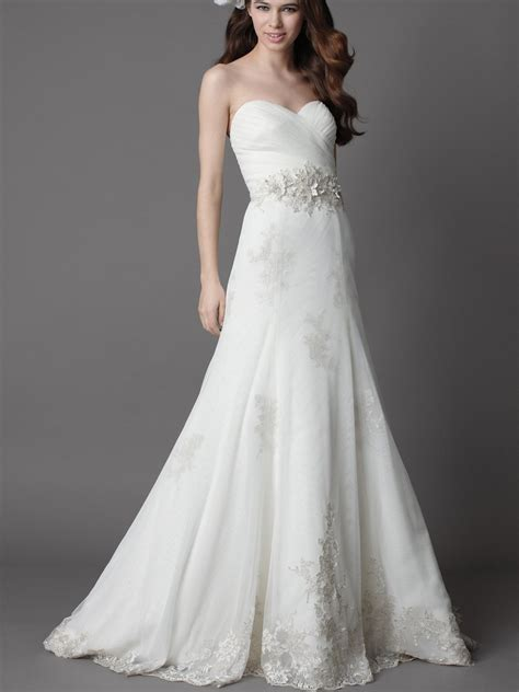 White Bridal Dresses by White Wedding Dress With A Line Silhouettewedwebtalks
