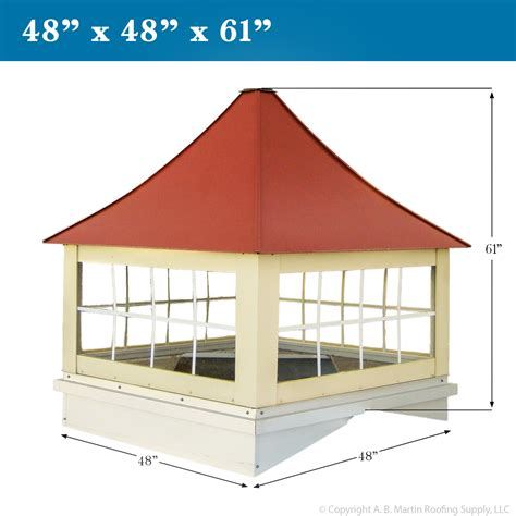 custom cupolas from a b martin roofing supply
