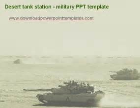 army powerpoint templates desert tank station ppt template