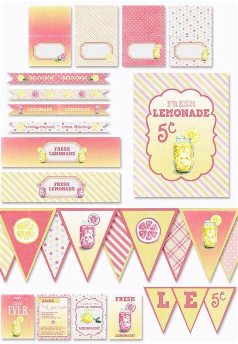 printable lemonade banner lemonade stand banner printables lemonade party instant
