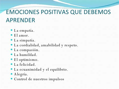 palabras palabras de emociones positivas palabras para importancia de las emociones negativas en los hijos