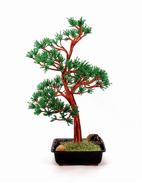 beaded bonsai tree scots pine beaded bonsai tree glass and wire tree sculpture