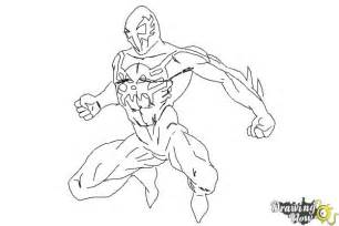 Spider 2099 Coloring Pages how to draw 2099 drawingnow