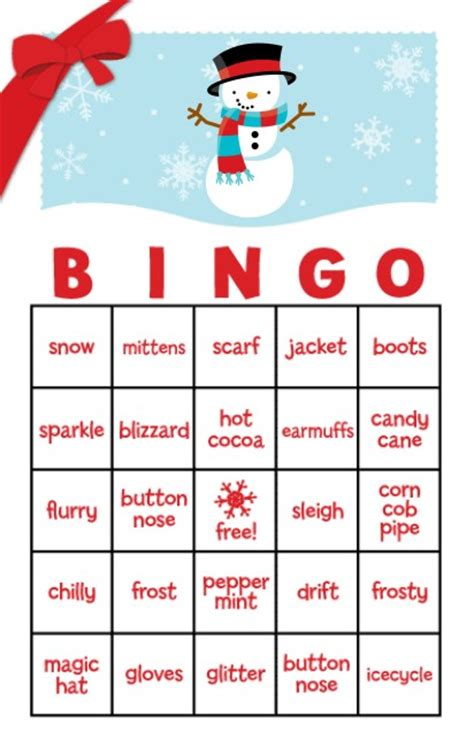 printable holiday bingo games 6 best images of snowman bingo printable free printable