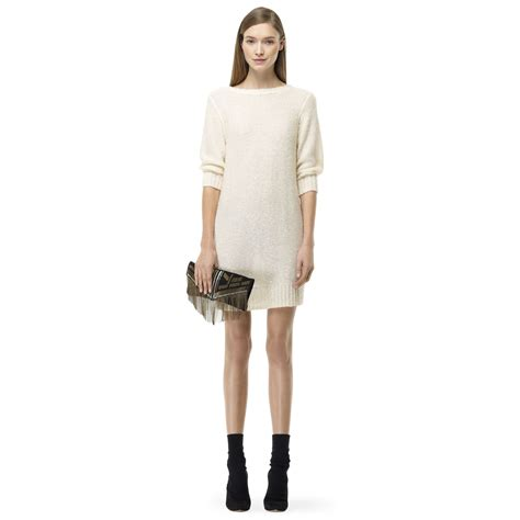 Sweater Club Vapor Clothing lyst club monaco sweater dress in white