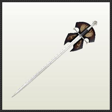 Papercraft Sword - lord of the rings aragon s sword and 250 ril free papercraft