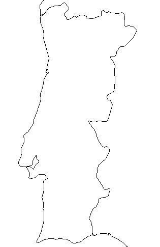 blank outline map of portugal — schools at look4