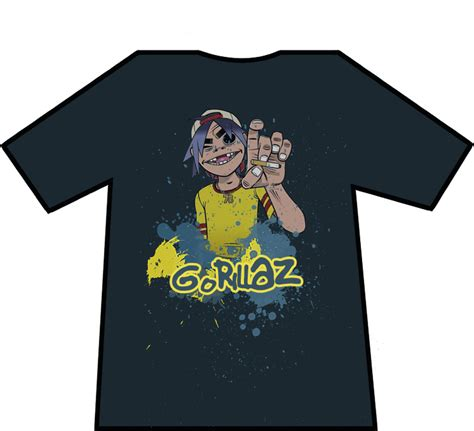 T Shirt Gorillaz 6 gorillaz t shirt by eeesskay on deviantart