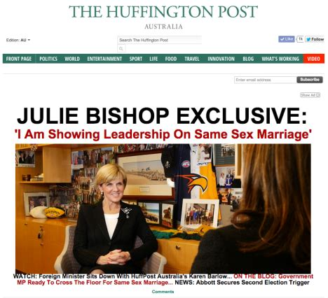 Goes A Day Early by Huffpo Aus Goes Live A Day Early With Exclusive On Julie