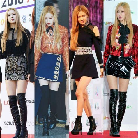blackpink onehallyu appreciation blackpink rose was born for skirts
