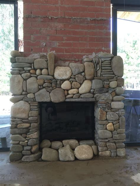 rock fireplace 25 best river rock fireplaces images on
