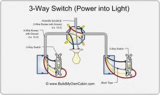3 way switch diagram power into light for the home lights electrical wiring