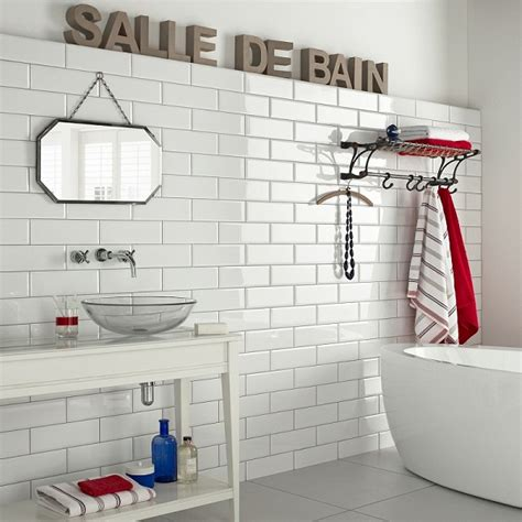 White Tiled Bathroom Ideas by Mad About Metro Tiles Mad About The House