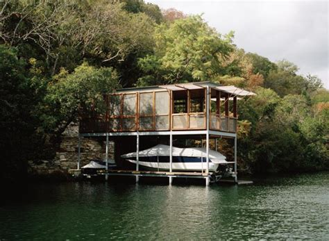 aqua boat rentals ta on the waterfront a boathouse in texas remodelista