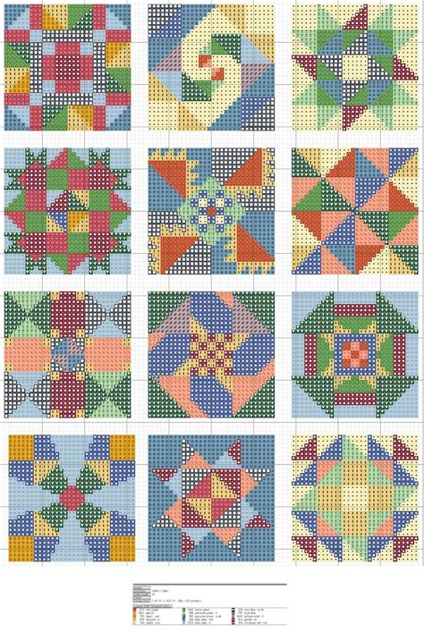 Quilt Chart by 17 Best Images About Cross Stitch Quilt Blocks On