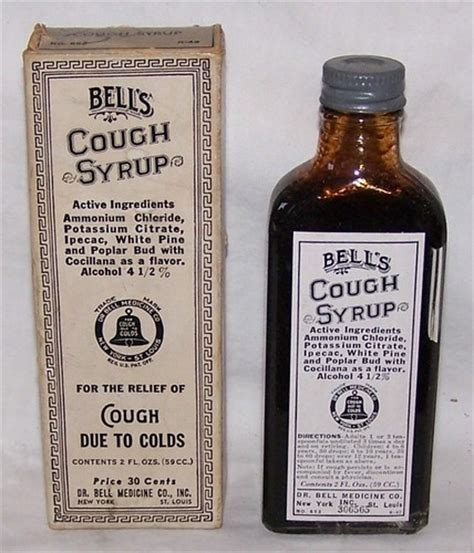Syrup Tross By Craby Store 1920 30 s bell s cough syrup bottle box dr bell medicine