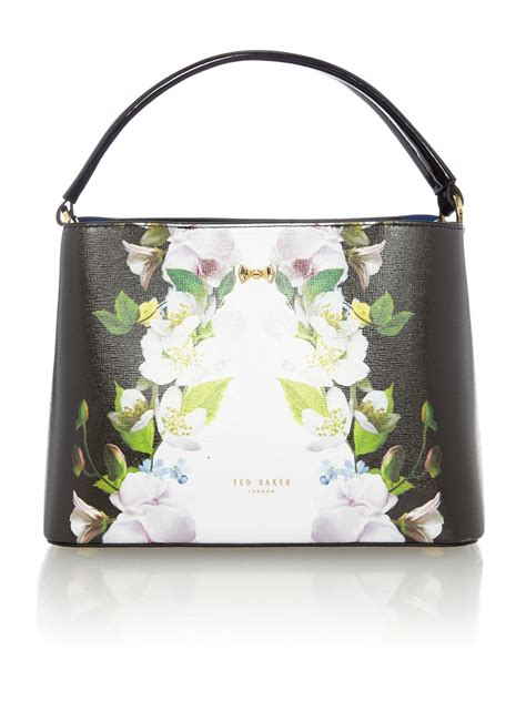 Totebag Flowly Flower ted baker baila black floral small tote bag in black lyst