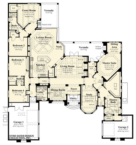 mediterranean house floor plan and design sater design collection s 8076 quot la serena quot home plan