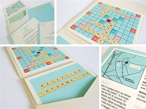 Scrabble Wedding Invitations