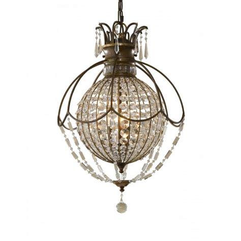 Circular Chandelier Lighting Bellini Large Globe Shaped Chandelier Antique Bronze