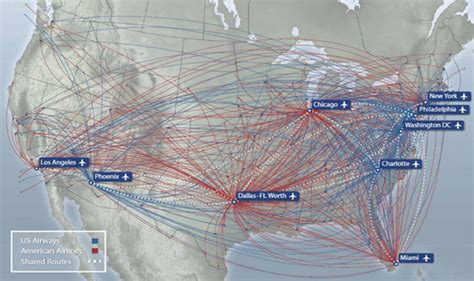 usair route map american airlines and us airways tie the knot airways