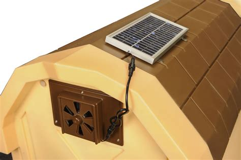 solar panel heater for dog house doghouse exhaust fans insulated doghouses by asl solutions inc