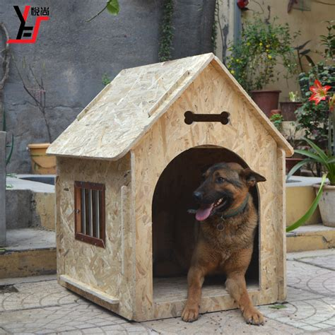 large outdoor dog house pet outdoor large wood dog house rain proof pretty terrace kennel large pet products