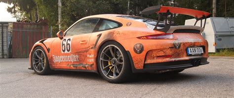 jagermeister porsche j 228 germeister gt3rs weathered wrap design skepple inc