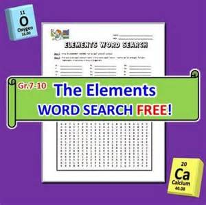 the elements word search this 33 term editable word