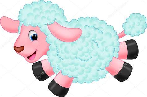 imagenes animadas de ovejas dibujos animados de oveja bonita vector de stock
