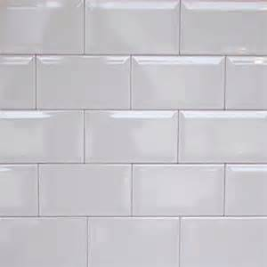 Open Air Bathroom Designs Bevelled Metro White 10x20cm