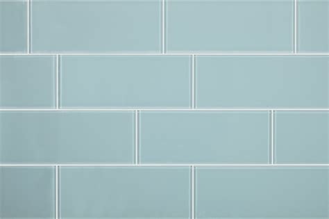 3 quot x8 quot aqua blue glass subway tiles set of 6 contemporary wall and floor tile by all