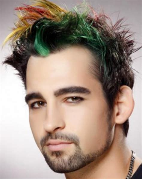 mens hairstyles red highlights highlight hair for guys hairs picture gallery