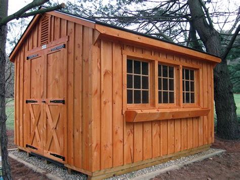potting shed   cedar stained