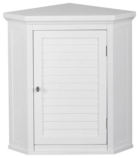 slone corner wall cabinet with 1 shutter door