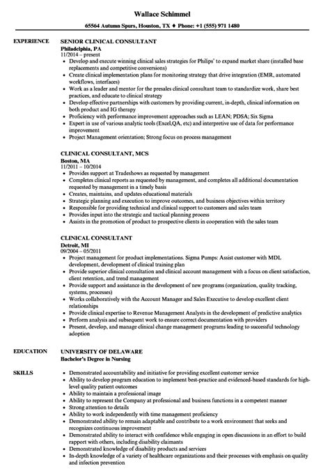 Clinical Consultant by Clinical Consultant Resume Sles Velvet