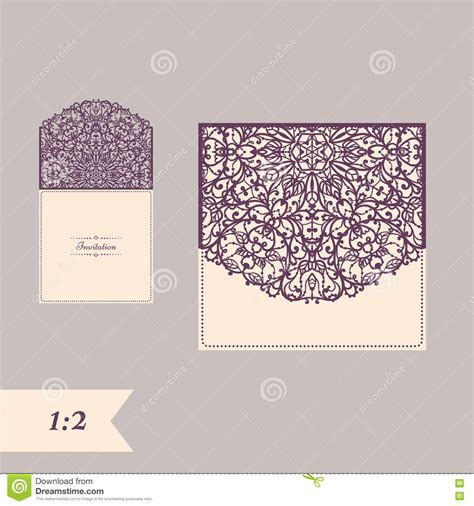Formax Fd120 Card Cutter Template by Wedding Invitation Or Greeting Card With Abstract Ornament