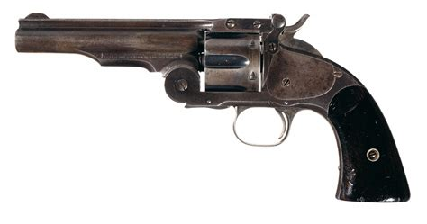 k d smith auctions u s smith wesson second model schofield revolver with