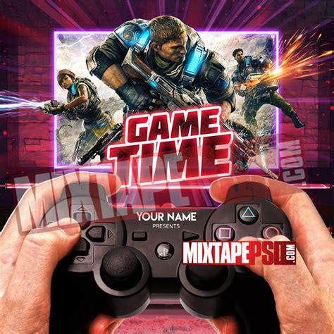 Mixtape Psd Template Game Time Mixtapepsd Com Mixtape Psd Templates
