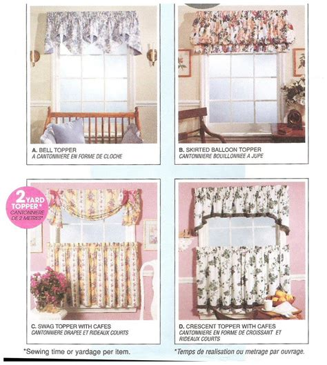 valance curtain patterns to sew mccalls 8080 sewing pattern uncut curtains valances